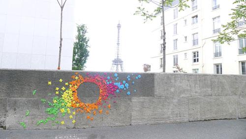Urban Rainbow (Street Art) - Mademoiselle Maurice