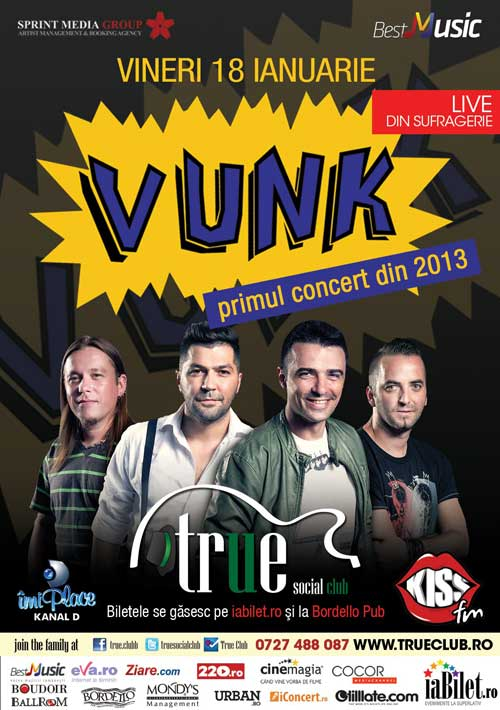 Concert VUNK in True Club