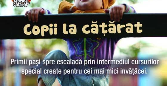 COPII LA CATARAT – un proiect sustinut de sala de boulder si escalada Fabrica de Catarat in parteneriat cu Centrul Educational IBSEN