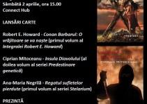"""Va invitam sambata, 2 aprilie, incepand cu ora 15.00 la evenimentul intitulat """" De la Conan Barbarul la distopie si stele """" in cadrul Targului de Carte Final Frontier care va avea loc in Bucuresti, in incinta Connect Hub (B-dul Dacia, nr. 99 – Piata Spaniei)."""