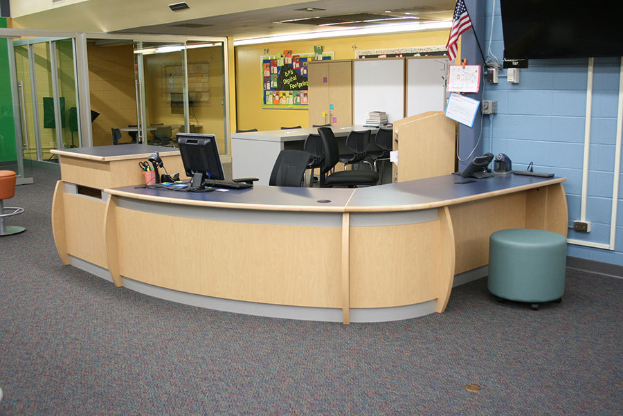Malibu Maplebrook Circulation Desk  mediatechnologies