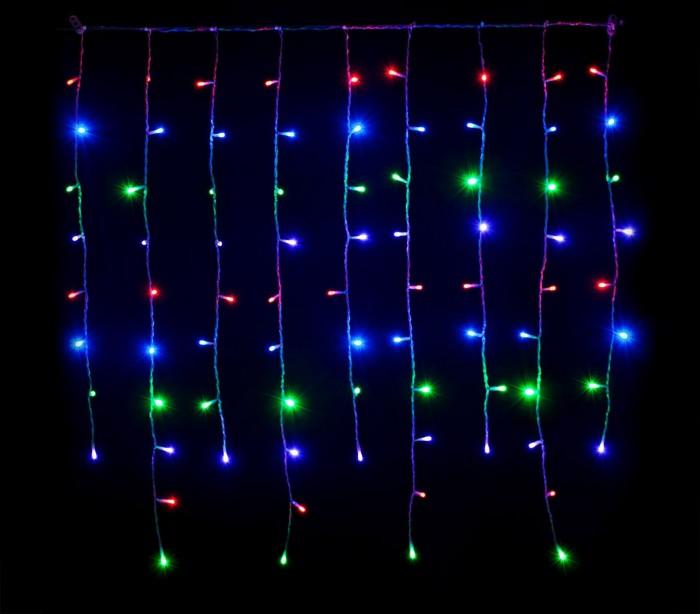 031434 Cortina efecto multicolor con 416 luces led para la