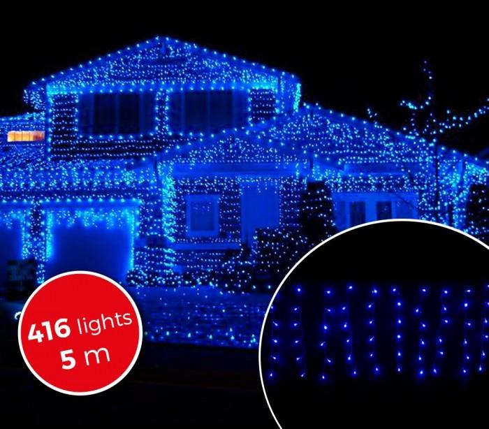 031434 Cortina con 416 luces led azules para la navidad