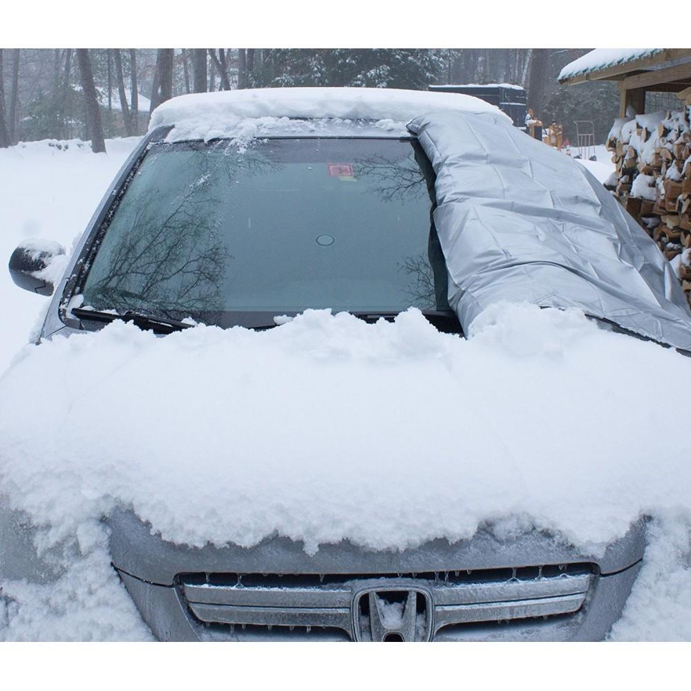 bache pare brise voiture no frost anti gel avec crochets 185x70 cm