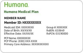 """Humana Medicaid Card"""