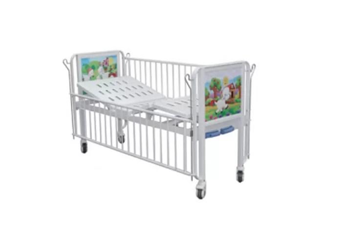 Manual Hospital Child Bed Cartoon Baby Kids Pediatric Bed