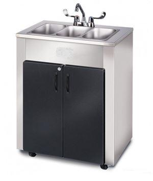 outdoor triple basin portable sink