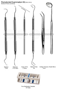 Periodontal Examination Kit Dental Instruments Medical