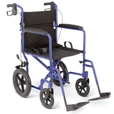 Medline Deluxe Transport Wheelchair with 12 Rear Wheels  Companion Wheelchairs
