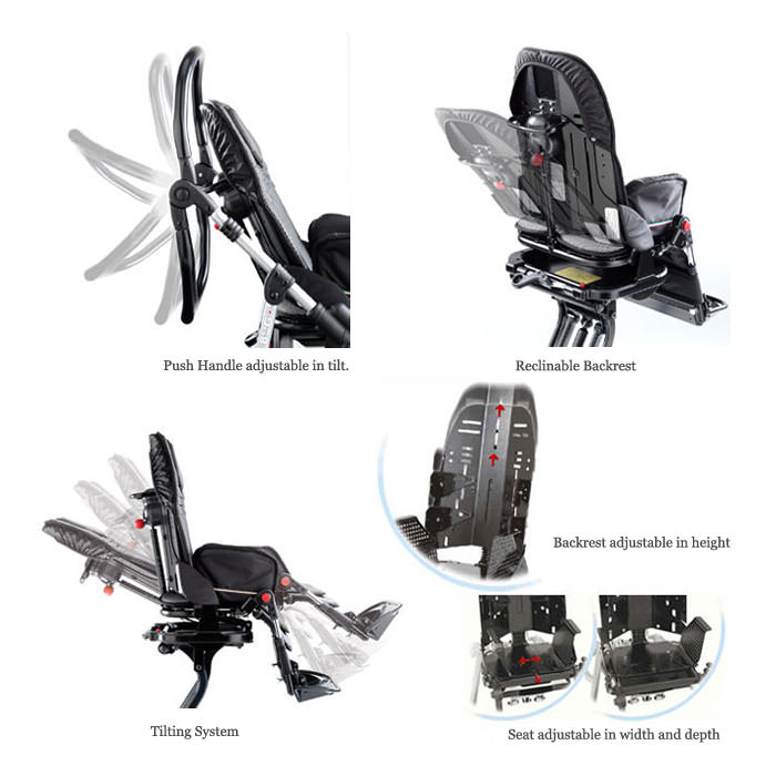 Ormesa New Bug Seating System With Three Wheel Stroller