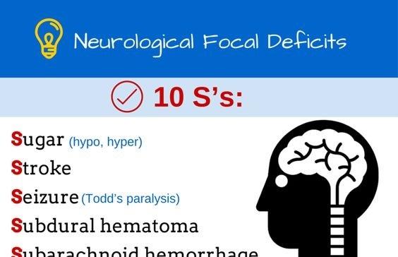 Neurological Focal Deficits Cheat Sheet - Medical eStudy