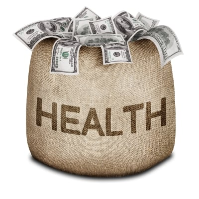 Health and Money Bag