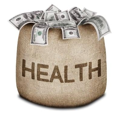 Health and Money Bag