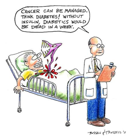 Cancer Diabetes Cartoon