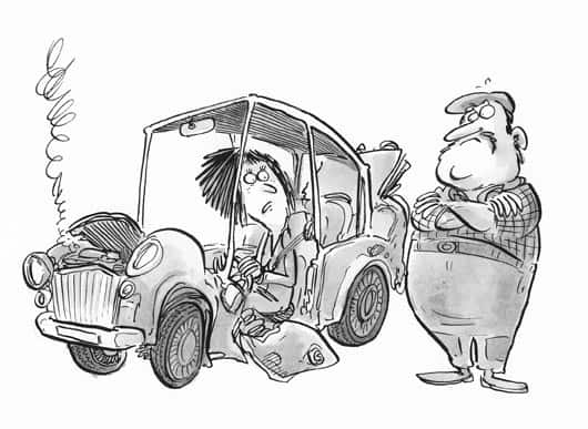 Car Breakdown Cartoon
