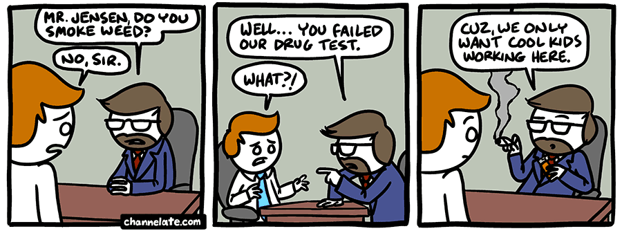 Drug Test Cartoon