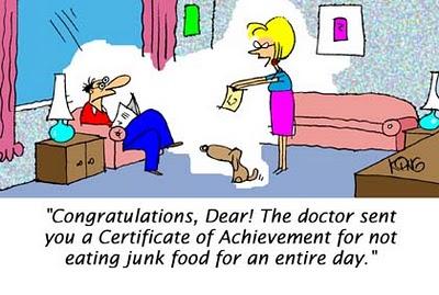 No Junk Food Cartoon