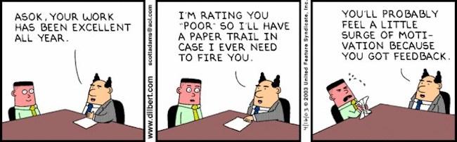 Dilbert Work Performance Cartoon
