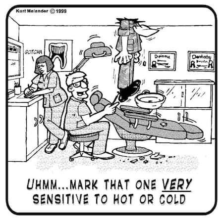 Sensitive to Hot or Cold Cartoon