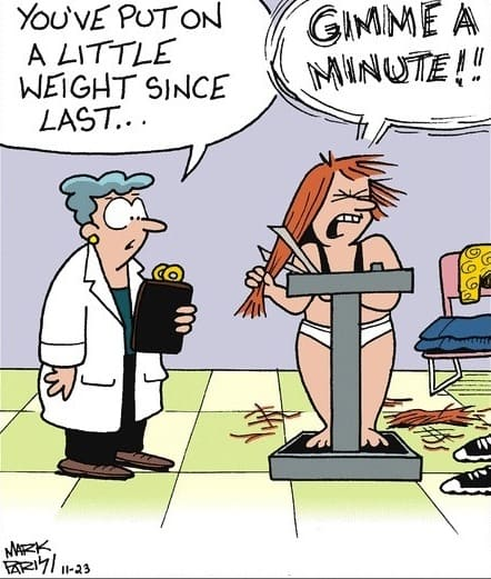 Weight Loss Funny Cartoon