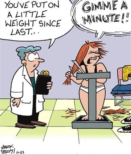 Weight Loss Funny Cartoon