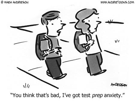 Anxiety Funny Cartoon