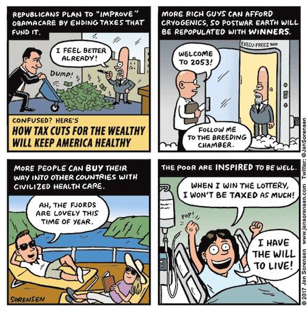 Funny Keeping Healthy Cartoon
