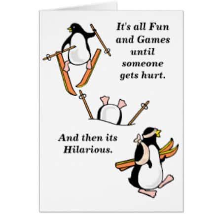 Funny Skiing Cartoon
