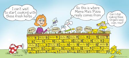 Herbs Funny Cartoon