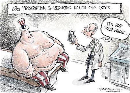Obesity Funny Cartoon
