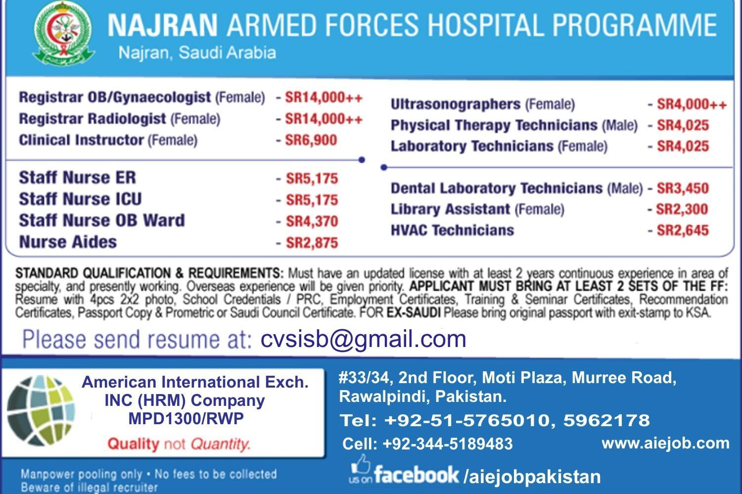 Nurses Vacancy In Armed Forces Hospital Mod