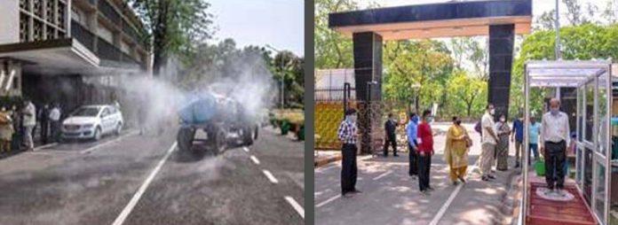CSIR-CMERI, Durgapur designs disinfection walkway and road sanitizer unit to combat COVID-19