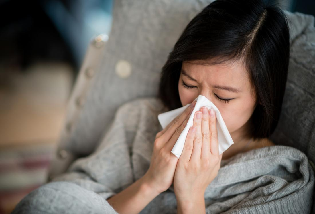 A person with a runny nose should not use a preparation that controls a cough.