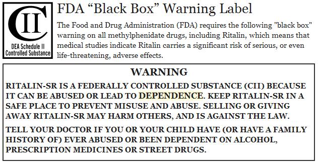 fda-ritalin-black-box-warning