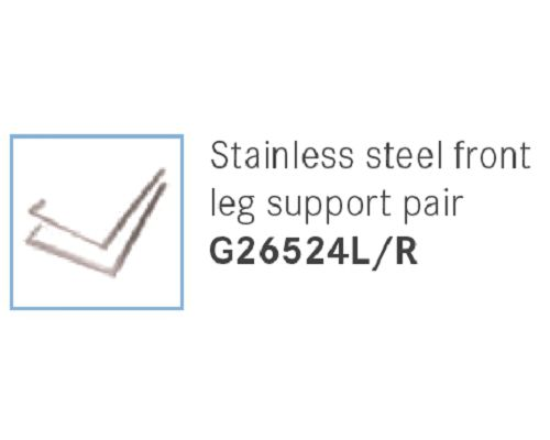 Franke Sissons Stainless steel front leg support pair