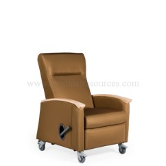 Medical Recliner Chairs Art Deco Club Chair La Z Boy Harmony Mobile Non Locking Back Urethane Arm Caps Grade 3 Vinyl