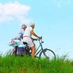 elderly riding