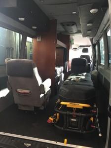 Interior of Medical Transport
