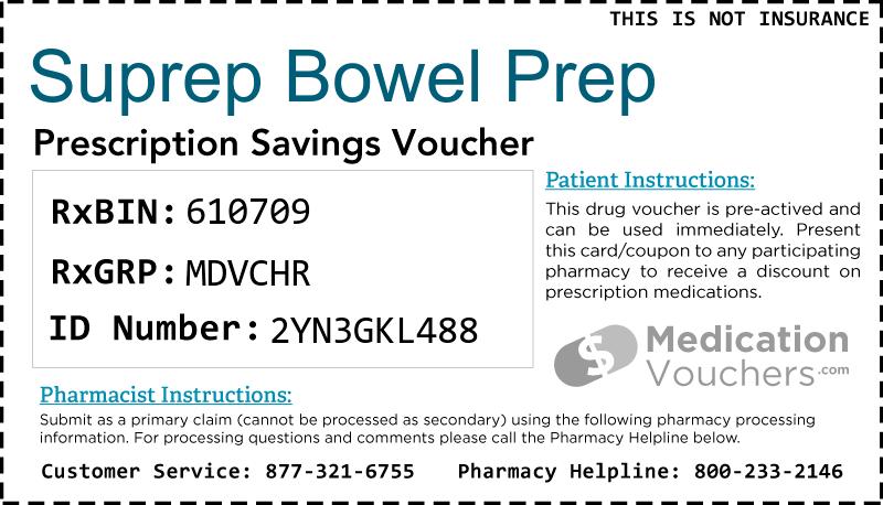 Suprep Bowel Prep | MedicationVouchers.com - Free ...