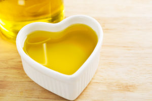 Heart full of healthy olive oil.