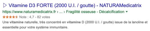 Achetez de la vitamine D3 sur NATURAMedicatrix