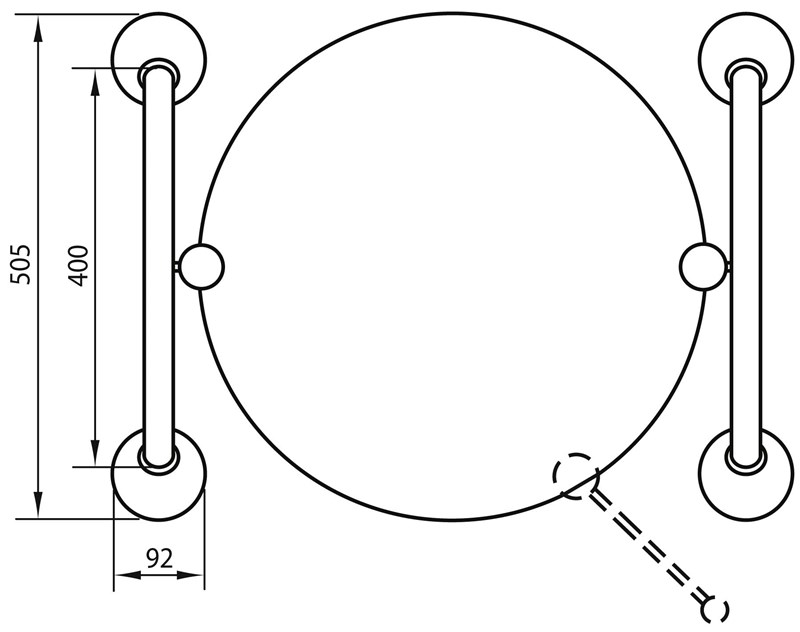 Asa para ajustar el ángulo de inclinación