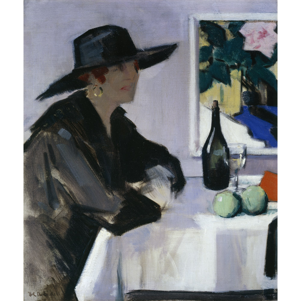 Lady In A Black Hat By Francis Campbell Boileau Cadell