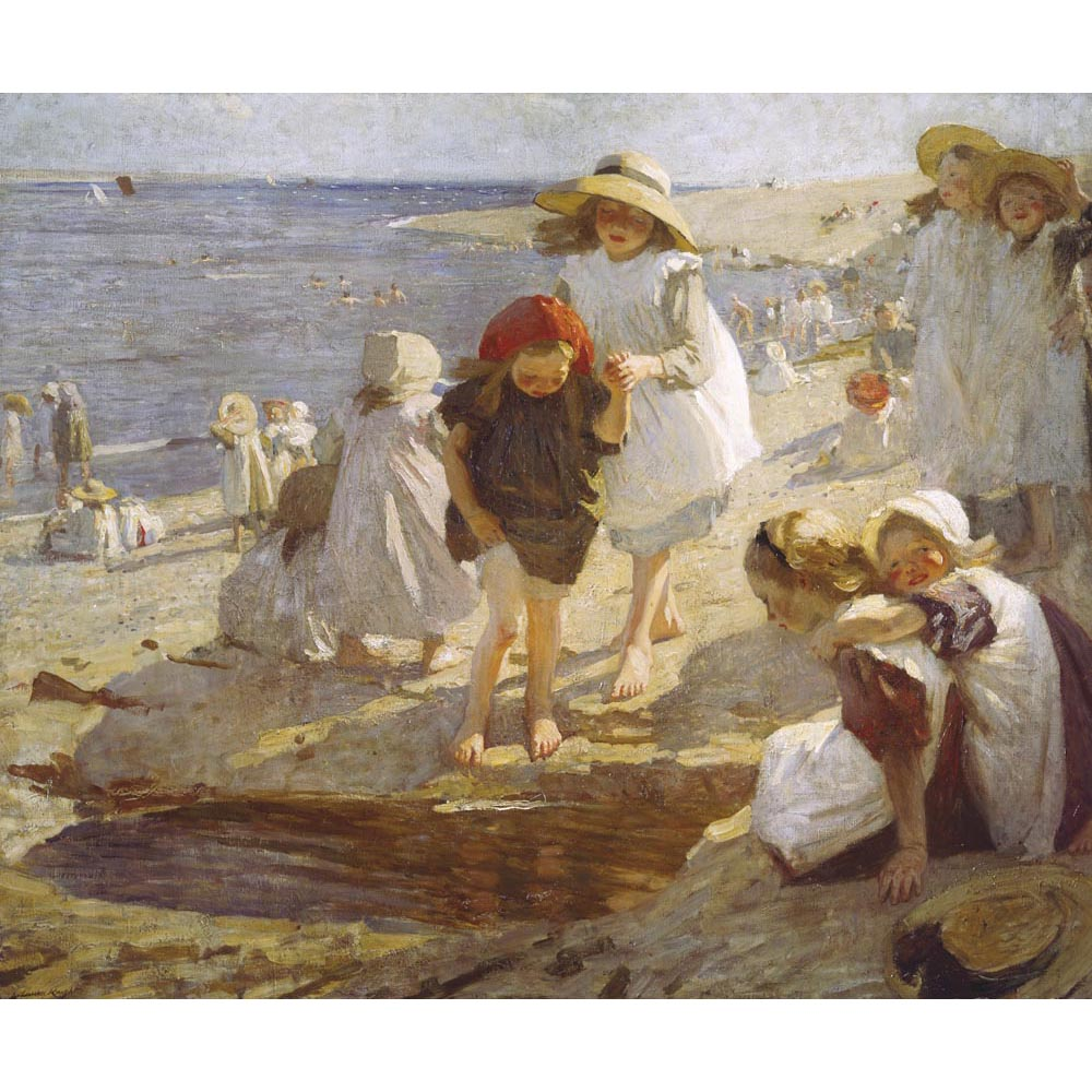 On The Beach By Dame Laura Knight
