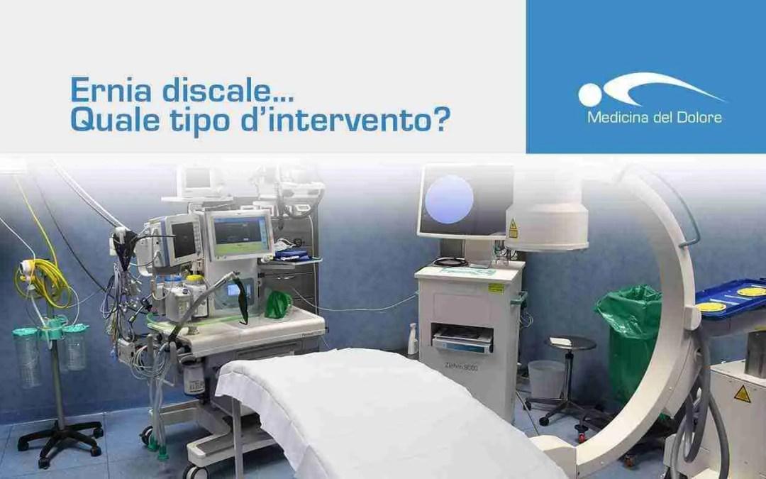 Ernia discale in chirurgia: quale tipo di intervento?
