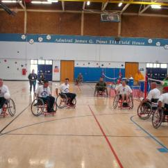 Wheelchair Volleyball Large Round Bamboo Chair Cushion Military Paralympics Serving In Learning The Rules And Strategy