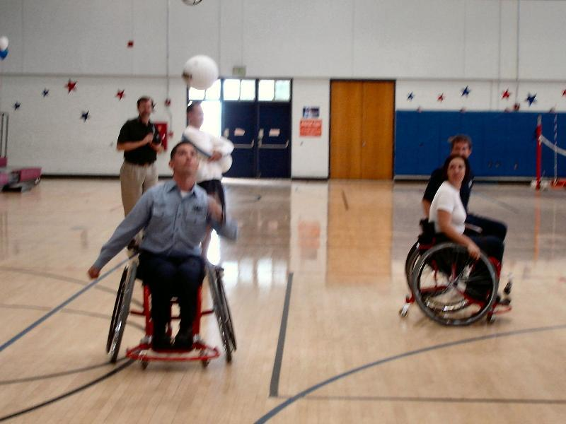 wheelchair volleyball wobble chair research military paralympics