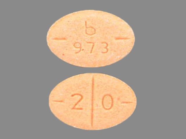 Pill Finder: b 973 2 0 Orange Elliptical / Oval - Medicine.com
