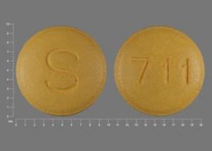 Pill ID: S 711 Yellow Round - Medicine.com