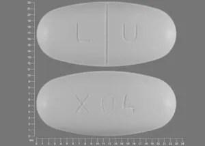 Pill Finder: LU X04 White Elliptical / Oval - Medicine.com